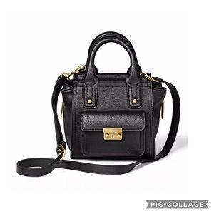 3.1 Phillip Lim Target Black Mini Satchel Handbag